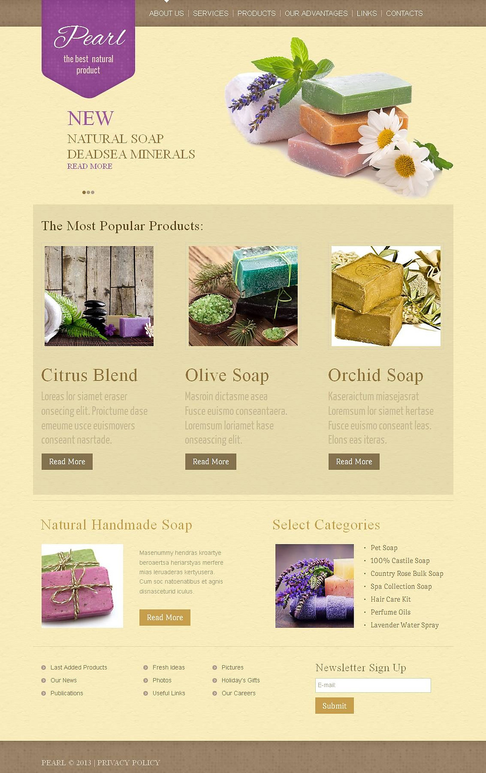 Hobbies and Crafts Web Template with jQuery Slider - image
