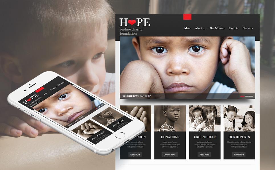 Modèle Moto CMS HTML  pour site d'association caritative New Screenshots BIG