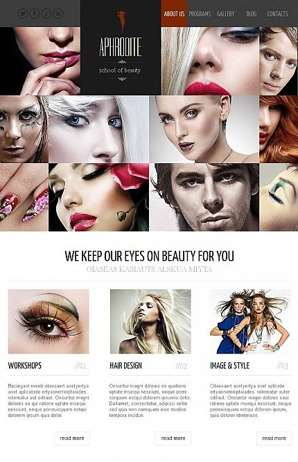 ADOBE Photoshop Template 44231 Home Page Screenshot