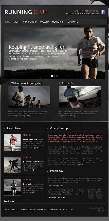 ADOBE Photoshop Template 44232 Home Page Screenshot
