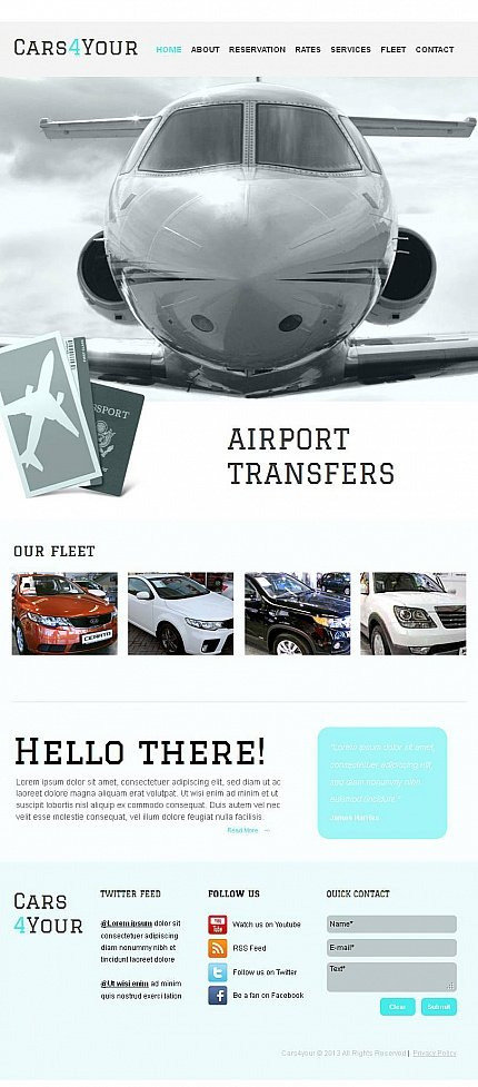 ADOBE Photoshop Template 44240 Home Page Screenshot