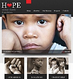 Charity Facebook HTML CMS  Template 44249