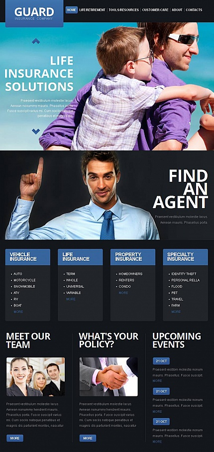 ADOBE Photoshop Template 44251 Home Page Screenshot