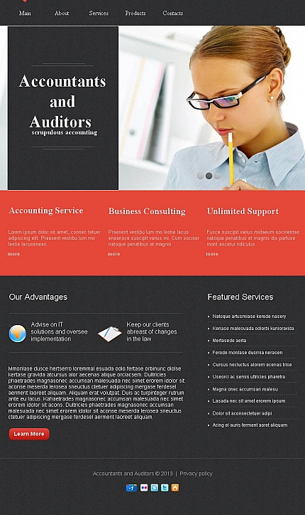 ADOBE Photoshop Template 44252 Home Page Screenshot