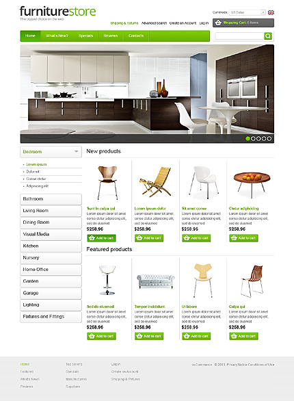 osCommerce Template 44255 Main Page Screenshot