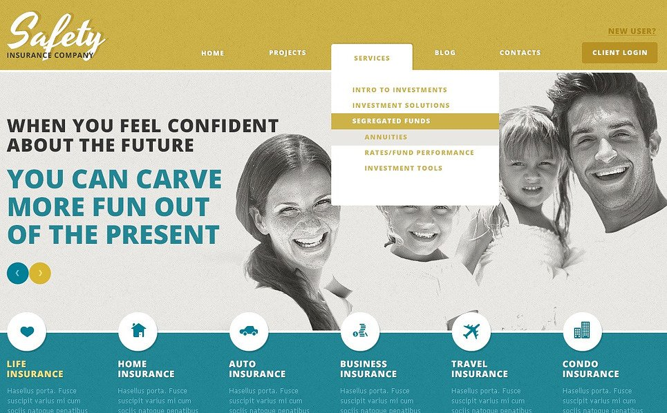 Responsive WordPress thema over Verzekering New Screenshots BIG