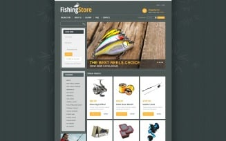 Fishing Store VirtueMart Template