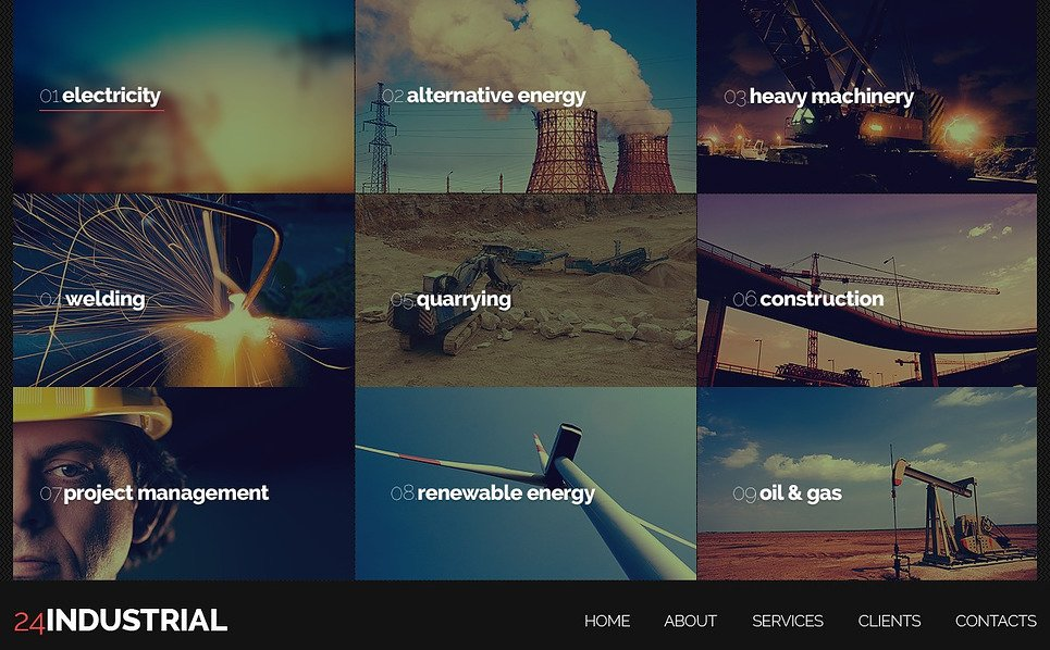 Website Vorlage für Industrie  New Screenshots BIG