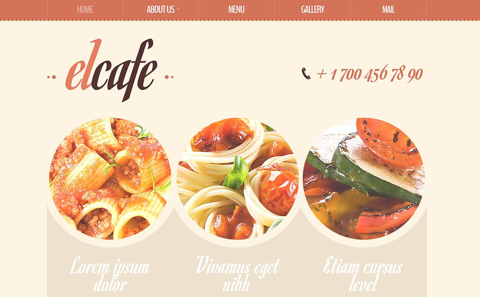 Kafe  Drupal Şablonu New Screenshots BIG