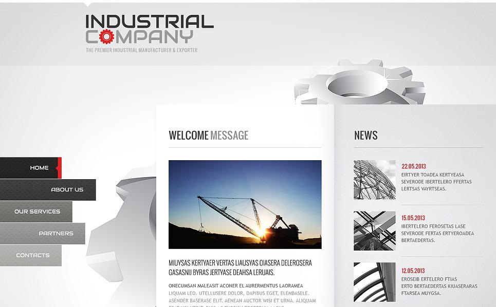 Template Siti Web Bootstrap #44296 per Un Sito di Industria New Screenshots BIG