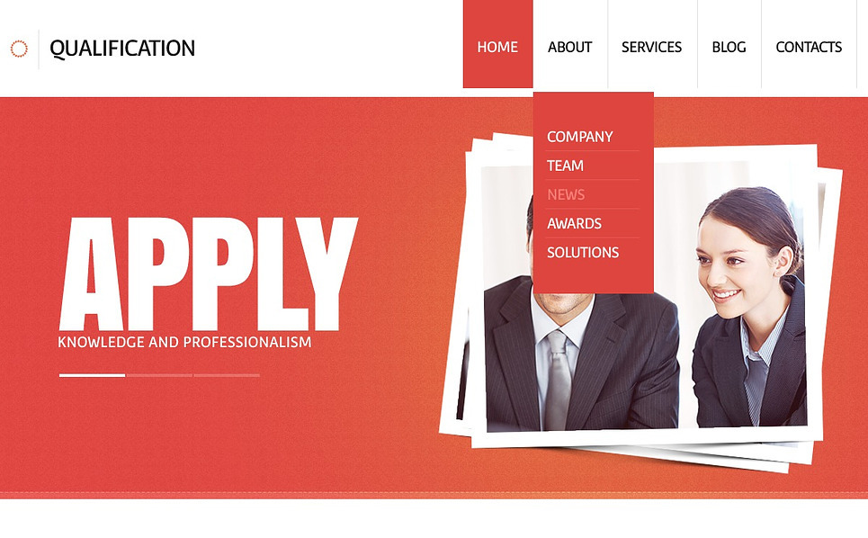 Responsywny szablon strony www #44298 na temat: agencja marketingowa New Screenshots BIG