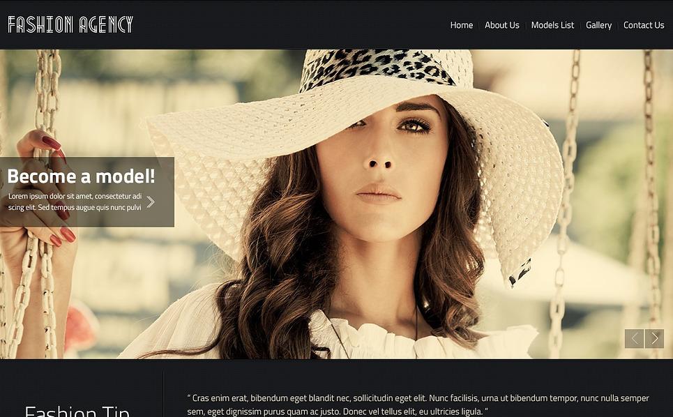 Website Vorlage für Modellagentur  New Screenshots BIG