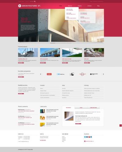 Architecture Responsive Шаблон сайту