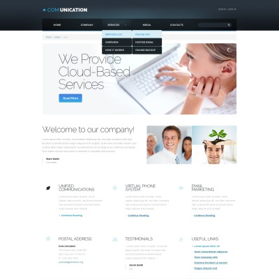 29+ Best Communications Website Templates