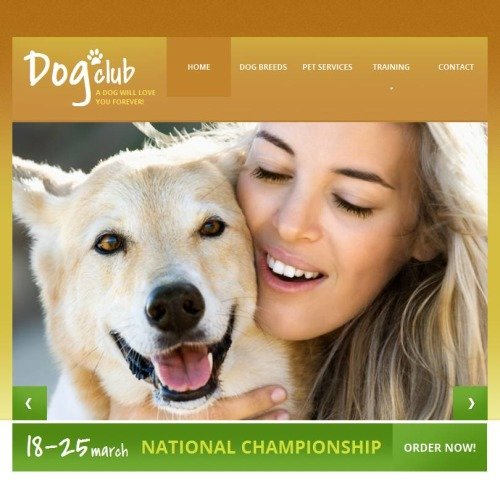Dog Club - Facebook HTML CMS Template