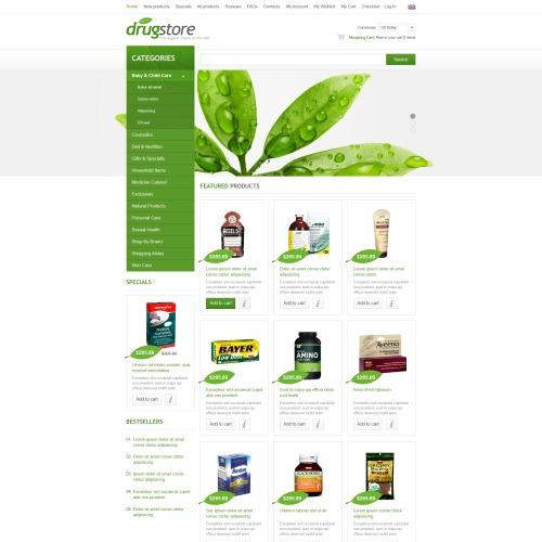 Drugstore - ZenCart Template