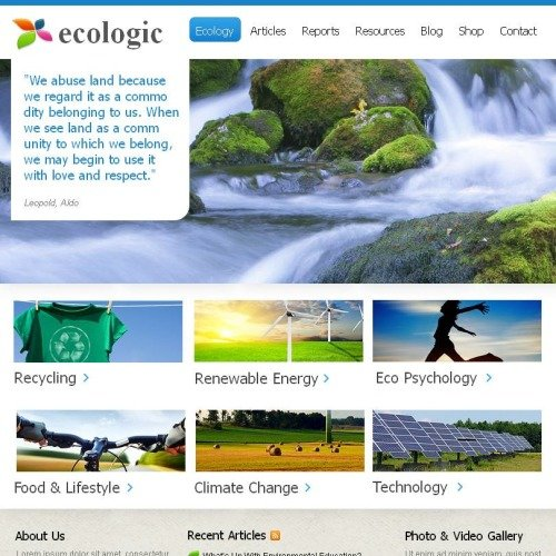 Ecologic - Facebook HTML CMS Template