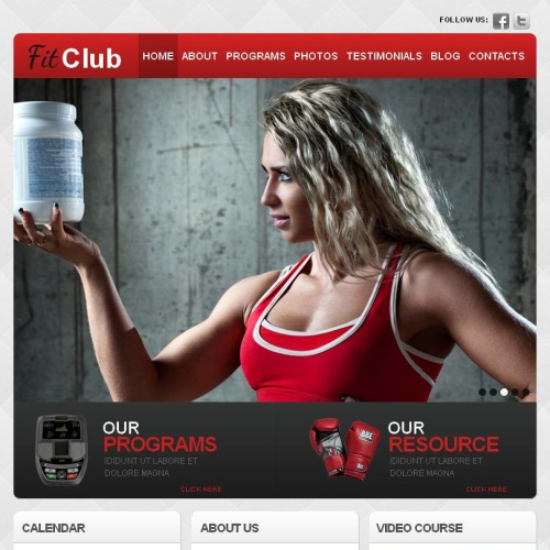 Fit Club - Facebook HTML CMS Template