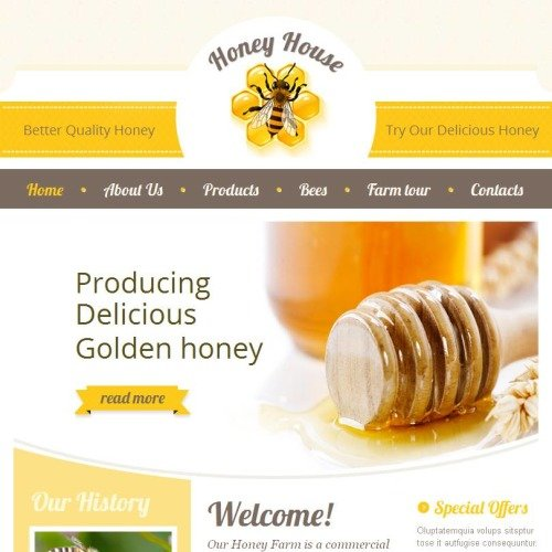 Honey House - Facebook HTML CMS Template