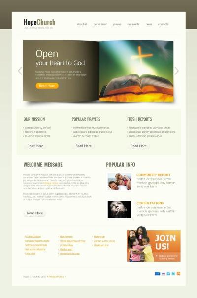 MotoCMS HTML шаблон №44220 на тему религия