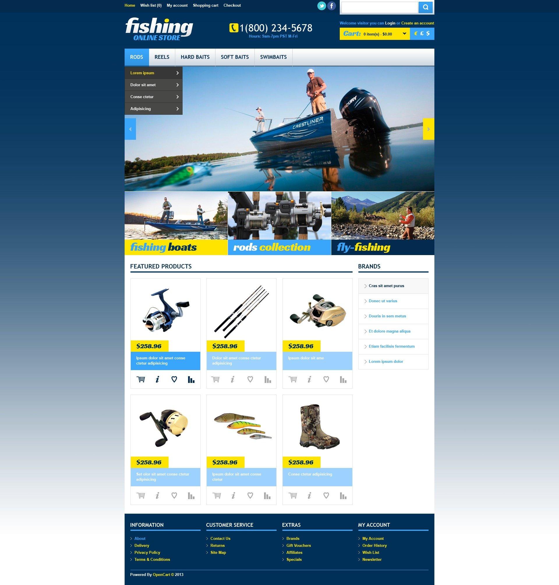 OpenCart шаблон  44270 на тему рыбалка от TemplateMonster 4db16bd2517