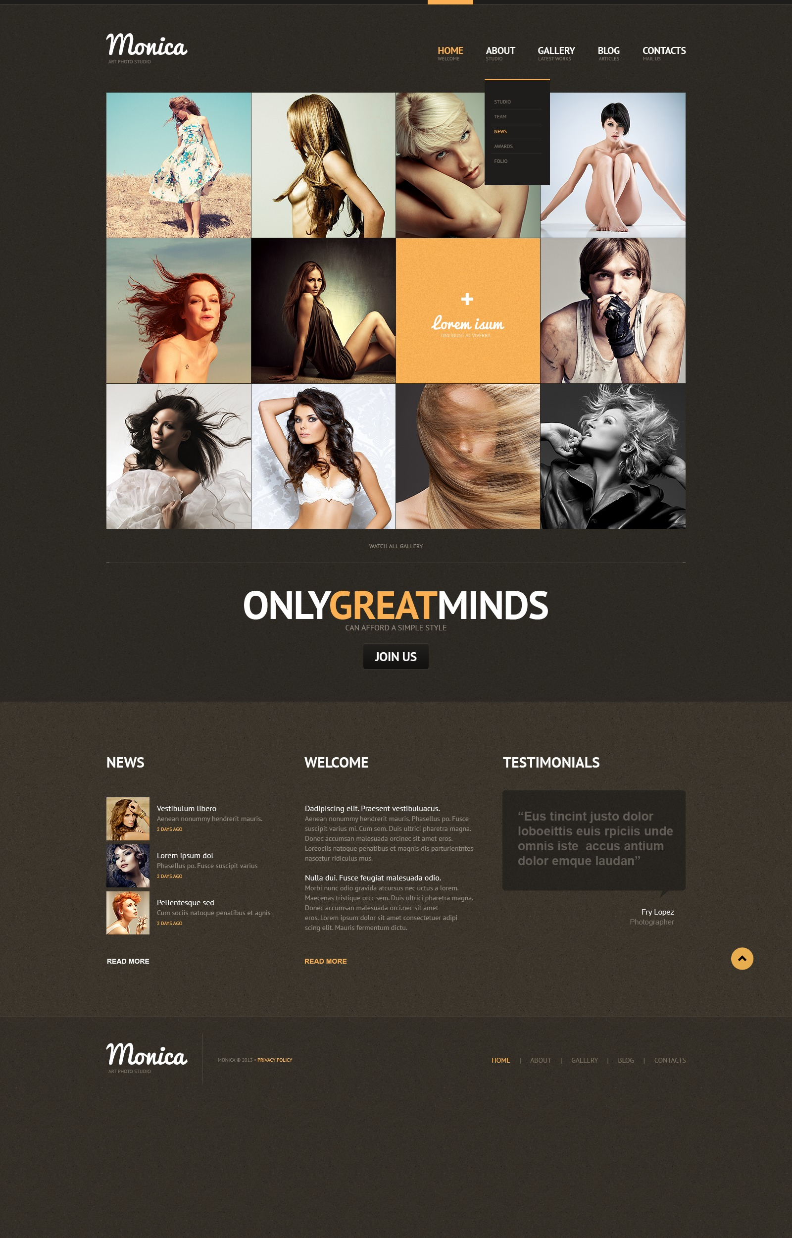 Photo Studio Responsive Website Template - screenshot