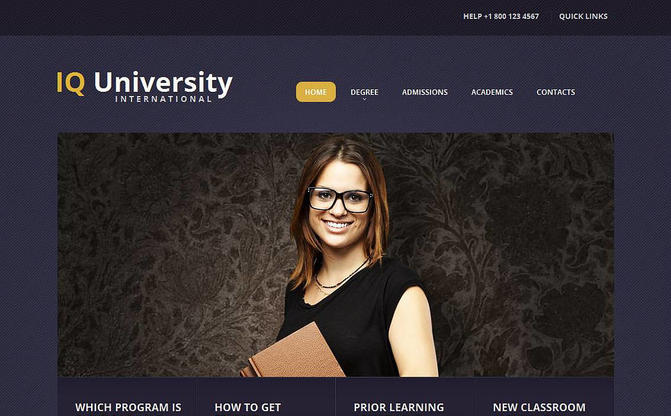 Plantilla Moto CMS HTML #44223 para Sitio de Universidad New Screenshots BIG