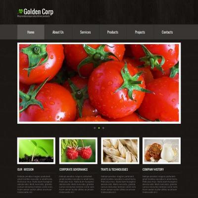 Plantilla Moto CMS HTML #44221 para Sitio de  para Sitio de Agricultura
