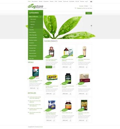 Plantilla ZenCart #44262 para Sitio de  para Sitio de Farmacias
