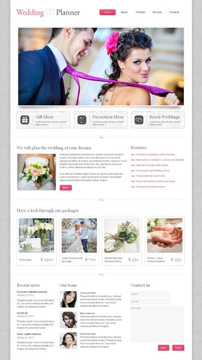 Wedding Planner Moto CMS HTML Template