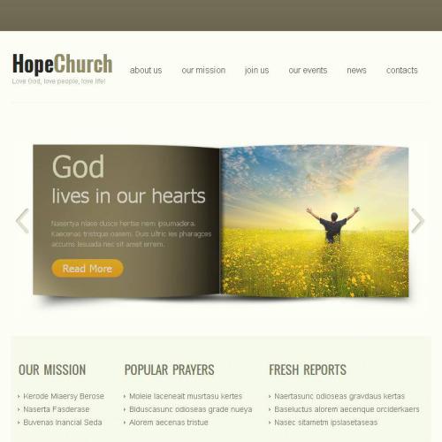Hope Church - Facebook HTML CMS Template