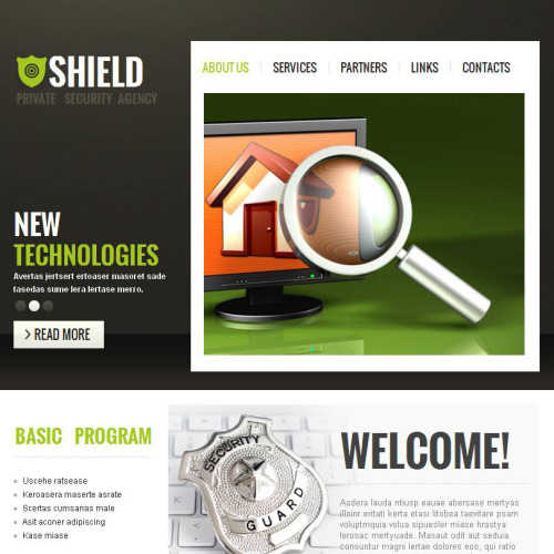 Shield - Facebook HTML CMS Template