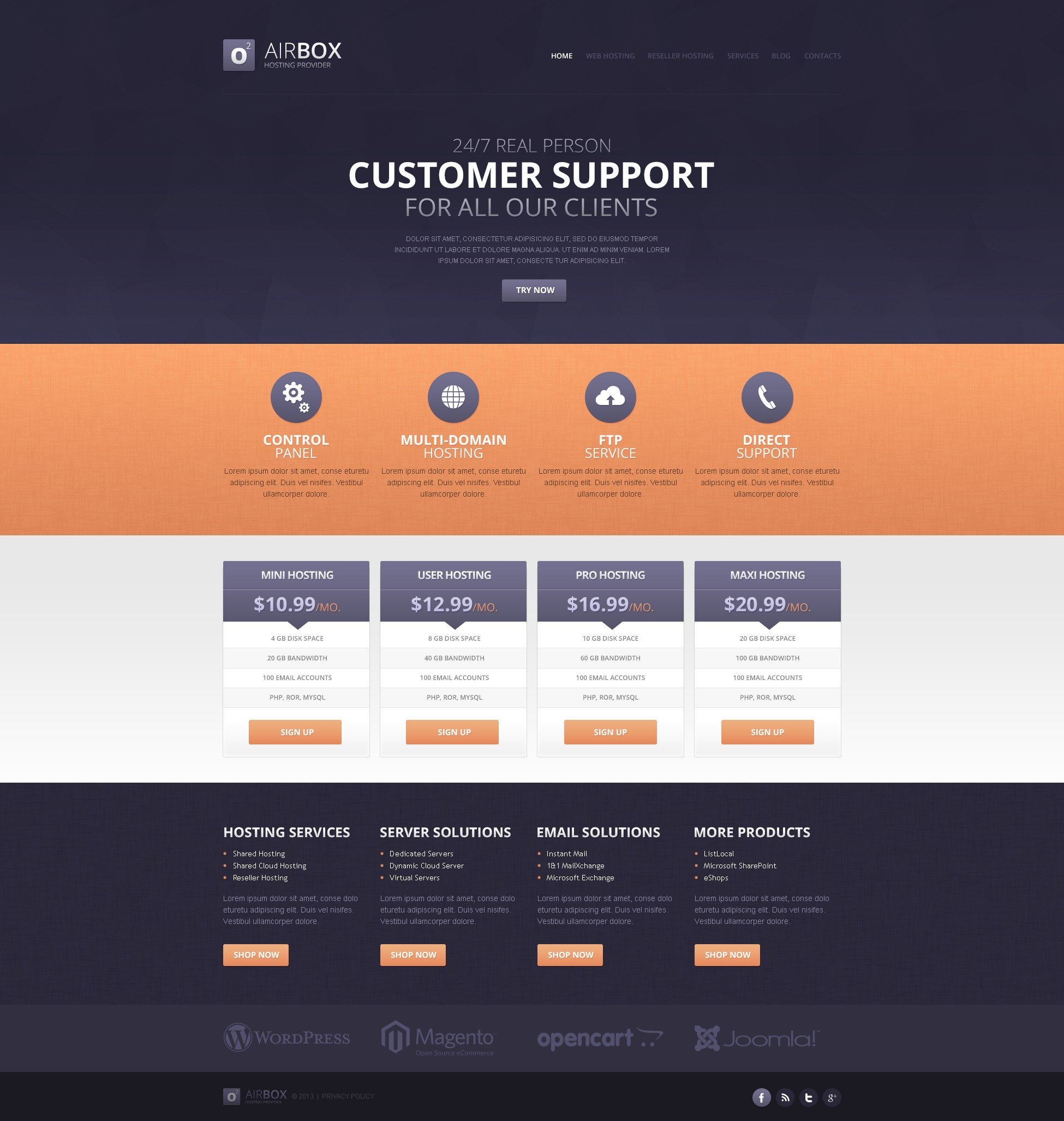 simple hosting drupal template 44261