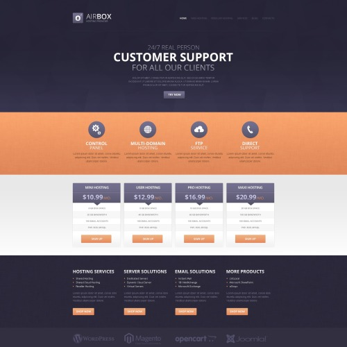 Customer Support - HTML5 Drupal Template