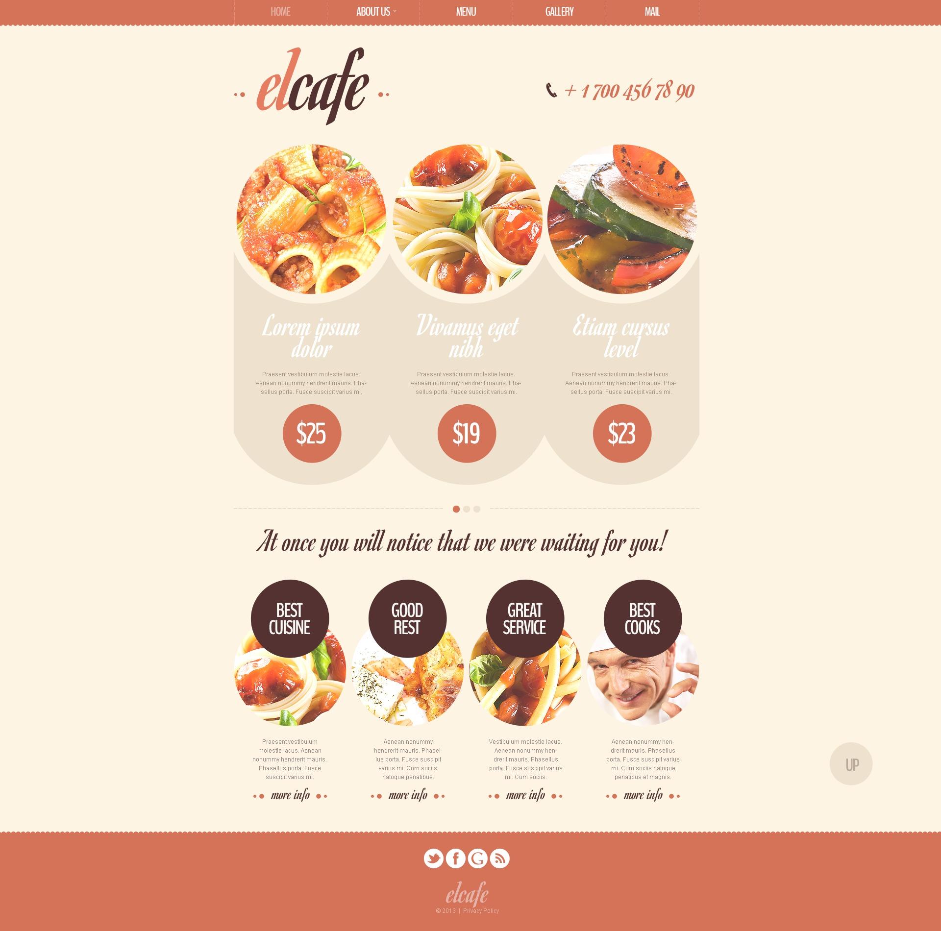 Template Drupal #44290 per Un Sito di Caffetteria - screenshot