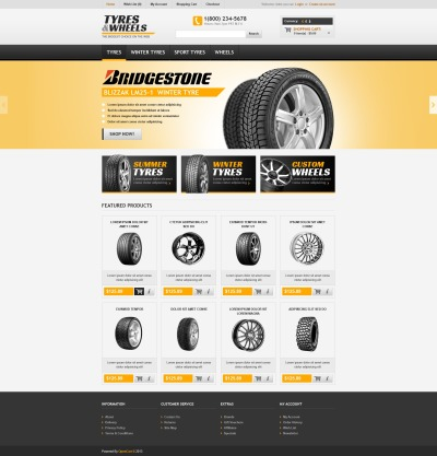 Tyres & Wheels OpenCart Template