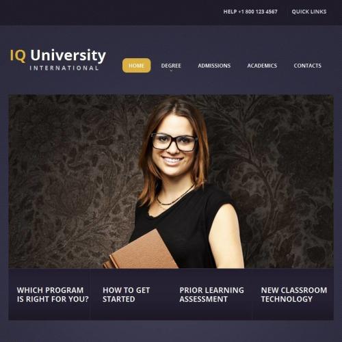 LQ University - Facebook HTML CMS Template