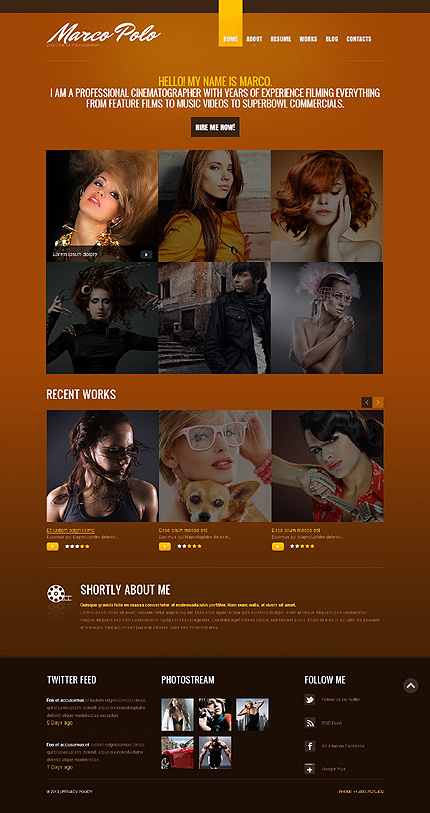Drupal Template 44301 Main Page Screenshot