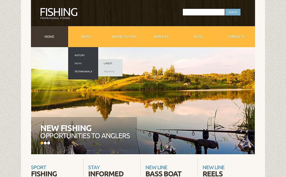Template Joomla Flexível para Sites de Pescaria №44305 New Screenshots BIG