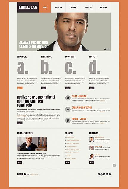 law website template 44313. Black Bedroom Furniture Sets. Home Design Ideas