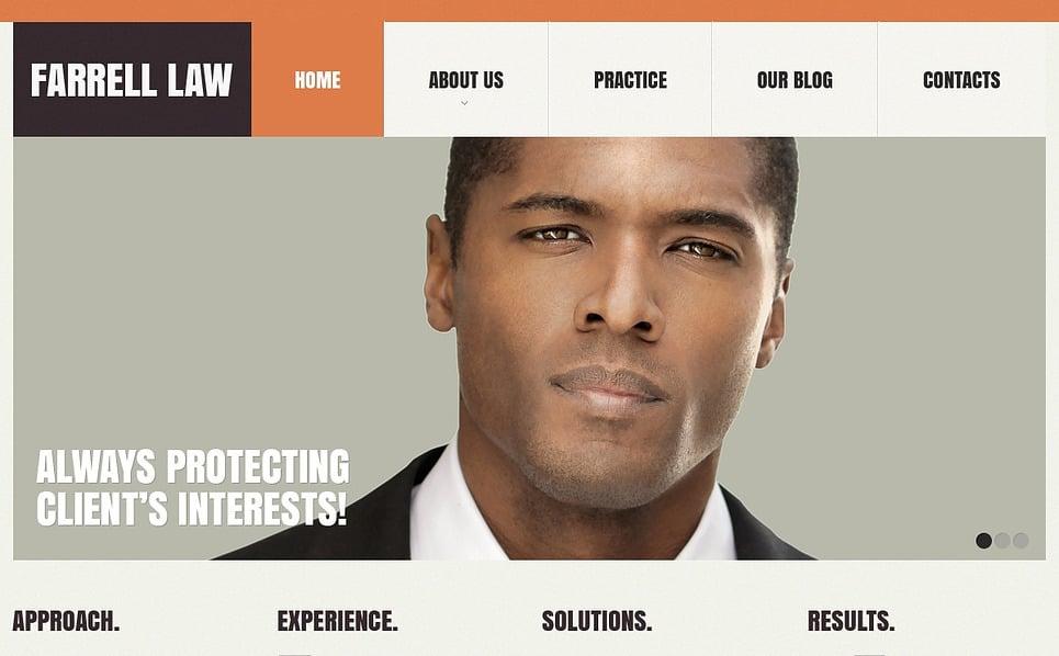 Reszponzív Ügyvédi Irodák Weboldal sablon New Screenshots BIG