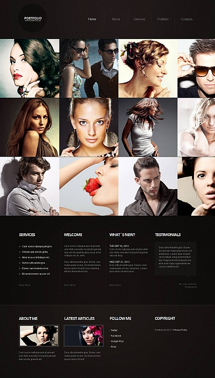 ADOBE Photoshop Template 44319 Home Page Screenshot