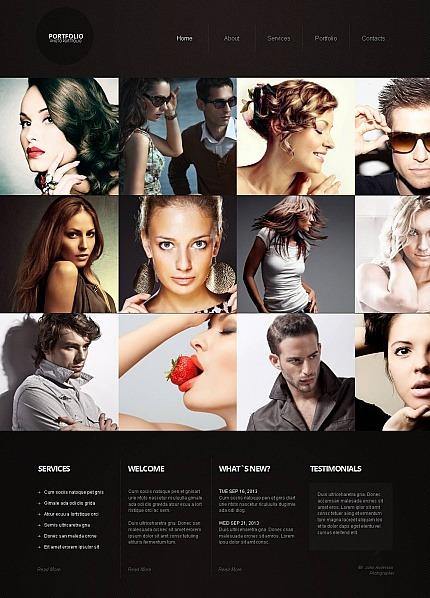 Prémium Fényképész portfóliók Fényképgaléria sablon MotoCMS