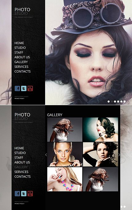 ADOBE Photoshop Template 44320 Home Page Screenshot