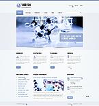 Science Website  Template 44324