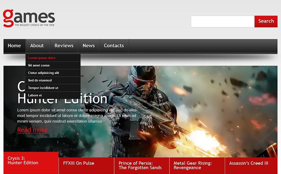 Reszponzív Játékok   Weboldal sablon New Screenshots BIG