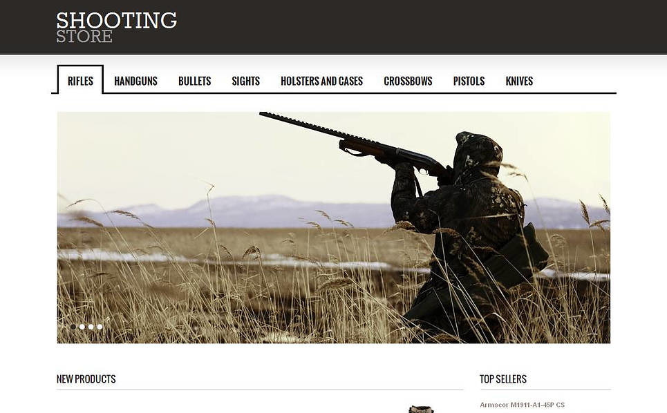 Szablon Moto CMS HTML #44342 na temat: strzelanie New Screenshots BIG