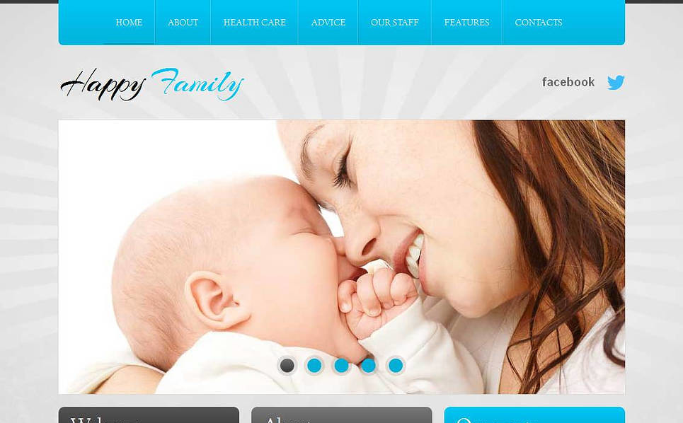 Moto CMS HTML Vorlage für Familienzentrum  New Screenshots BIG