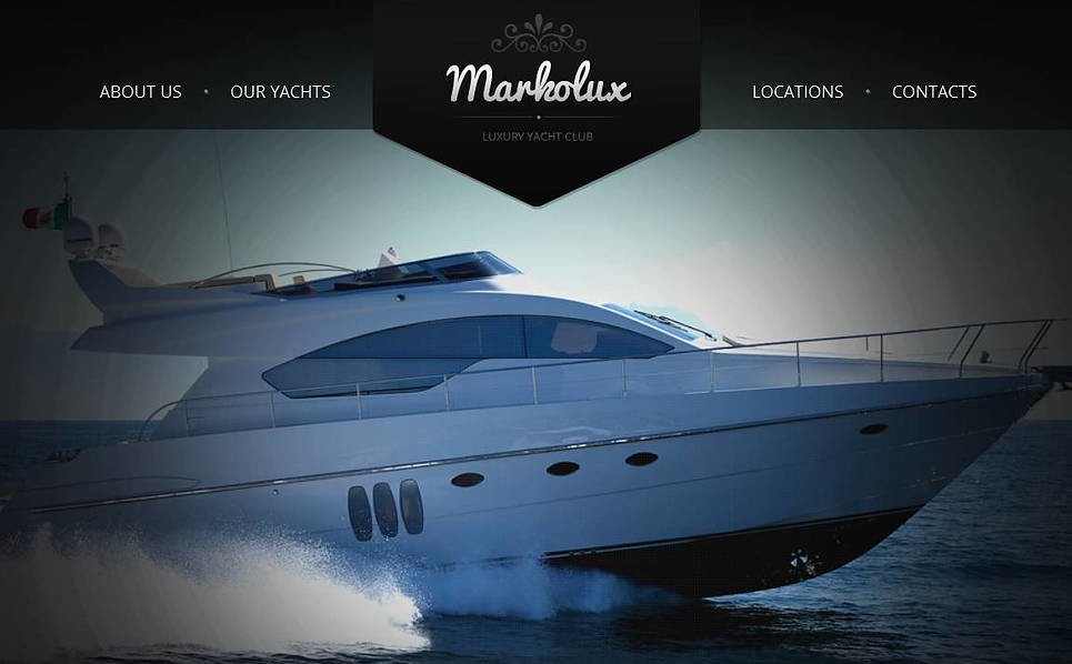 Modèle Moto CMS HTML  pour site de yachting New Screenshots BIG