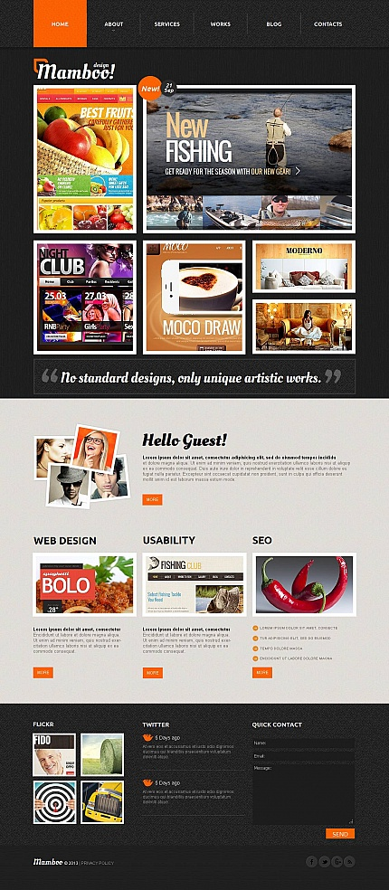 ADOBE Photoshop Template 44346 Home Page Screenshot